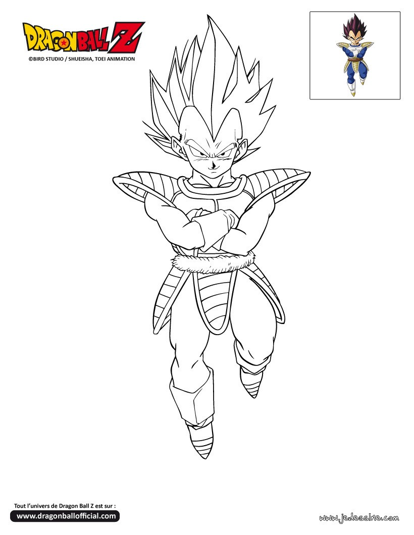 Coloriages coloriage vegeta - Dessin de dragon ball super ...