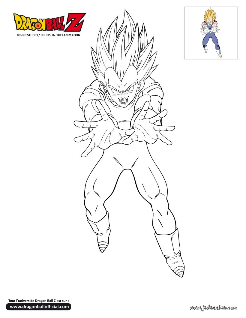 Coloriages coloriage attaque de vegeta - Dessin de dragon ball ...