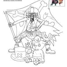 Coloriage CHOPPER et le DOCTEUR HILULUK - Coloriage - Coloriage ONE PIECE