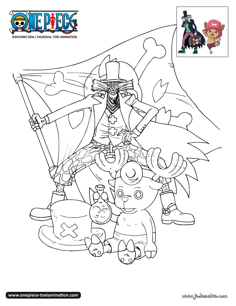 Coloriages coloriage chopper et le docteur hiluluk fr - Coloriage one peace ...
