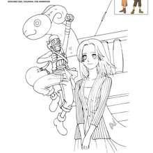 KAYA et USOPP à colorier - Coloriage - Coloriage ONE PIECE