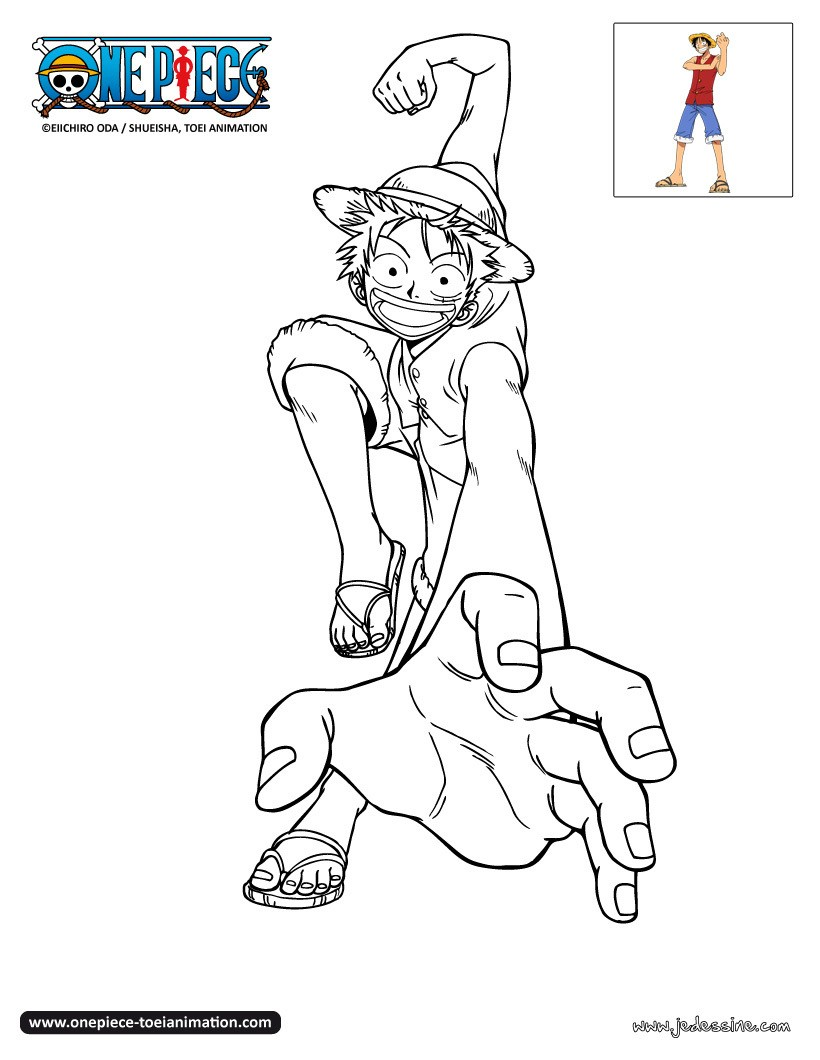 Coloriages coloriage luffy - Coloriage one peace ...