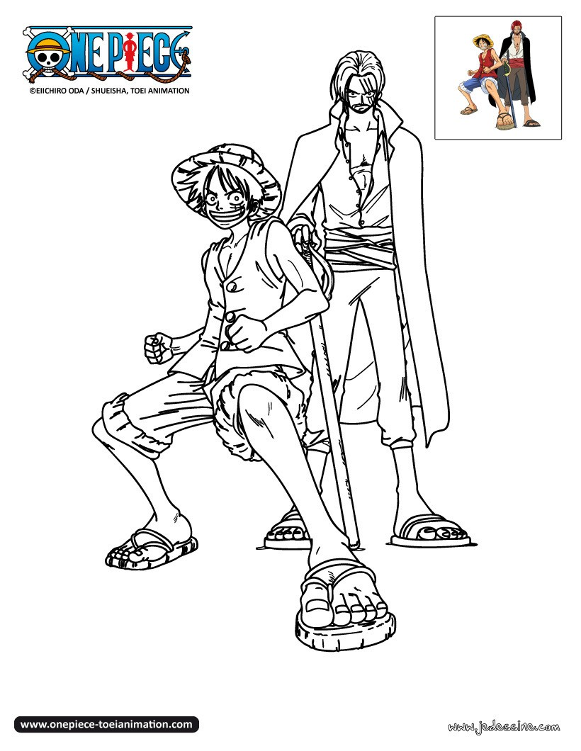 Coloriages luffy et shanks colorier - Dessin a colorier one piece ...