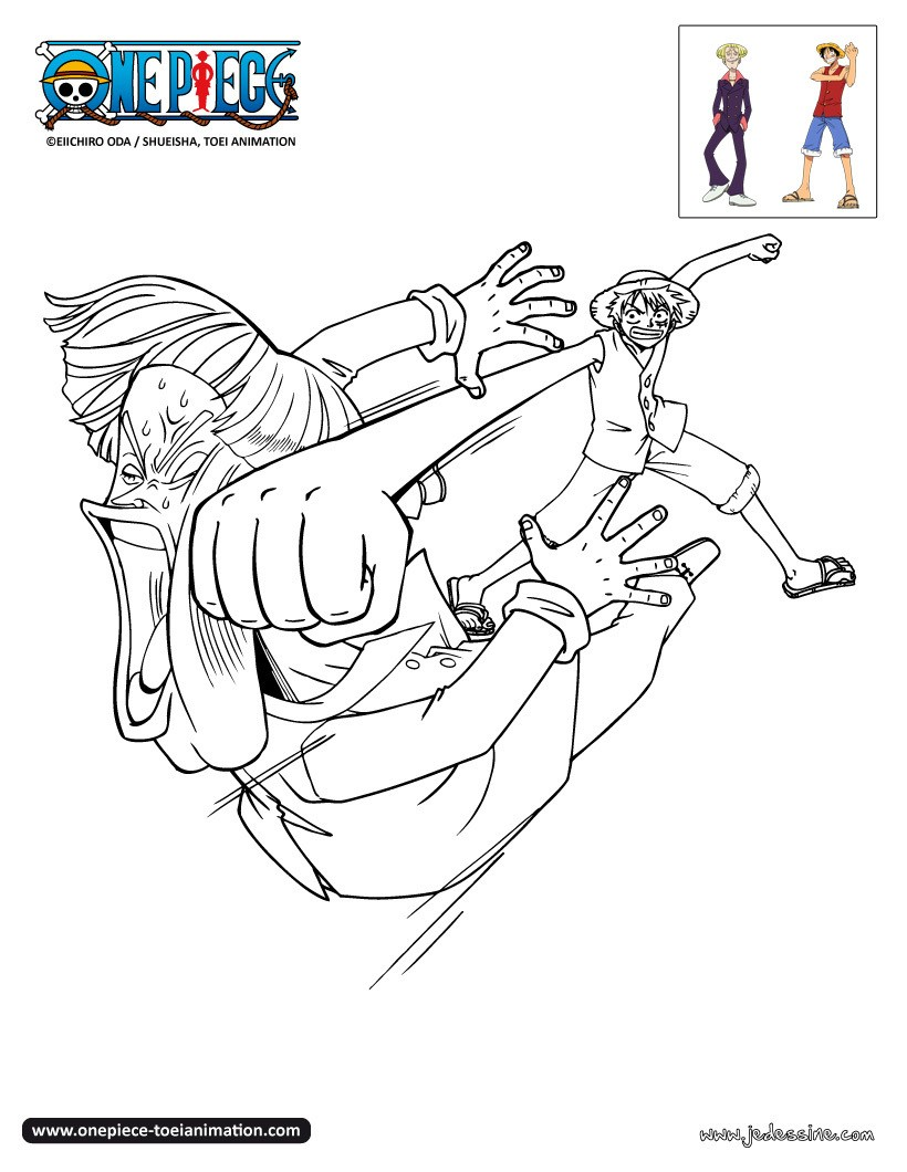 Coloriage LUFFY gratuit HERMEP et LUFFY   colorier Coloriage Coloriage ONE PIECE