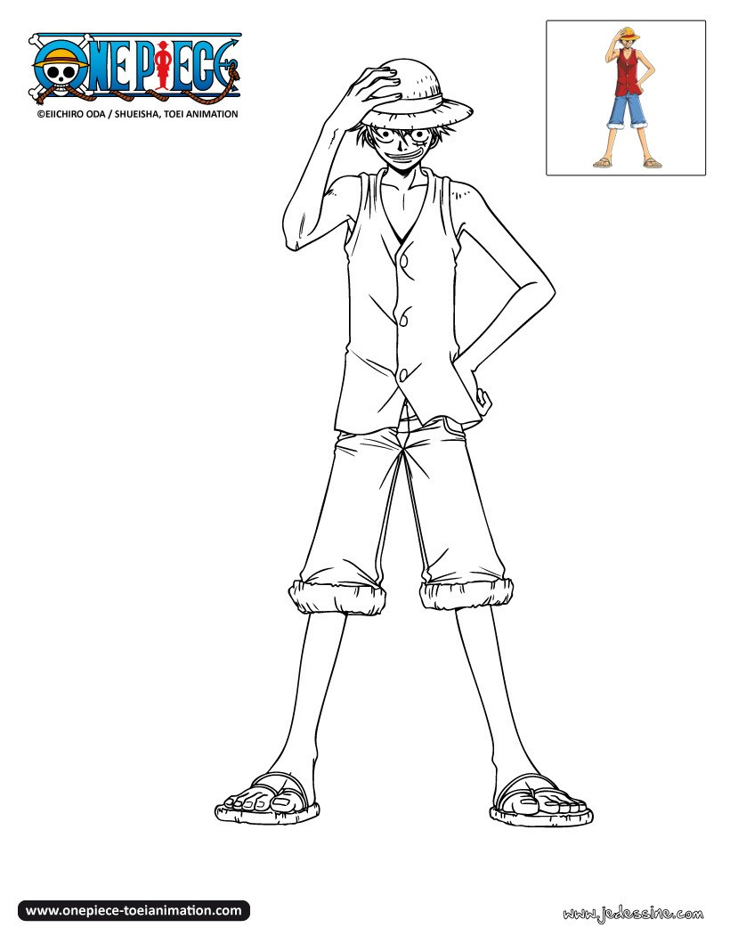 Coloriages coloriage luffy gratuit - Coloriage one peace ...