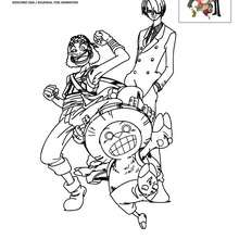 Coloriage USOPP SANJI et CHOPPER - Coloriage - Coloriage ONE PIECE