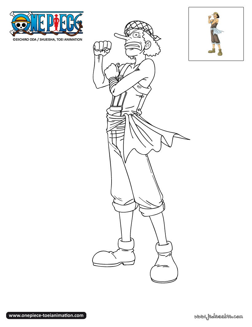 Coloriages coloriage usopp - Coloriage one peace ...