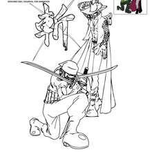 MIHAWK et ZORO à colorier - Coloriage - Coloriage ONE PIECE