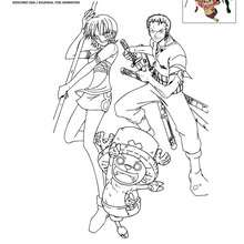 ZORO NAMI et CHOPPER  colorier - Coloriage - Coloriage ONE PIECE
