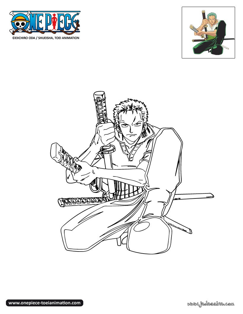 Coloriages zoro colorier - Coloriage one peace ...