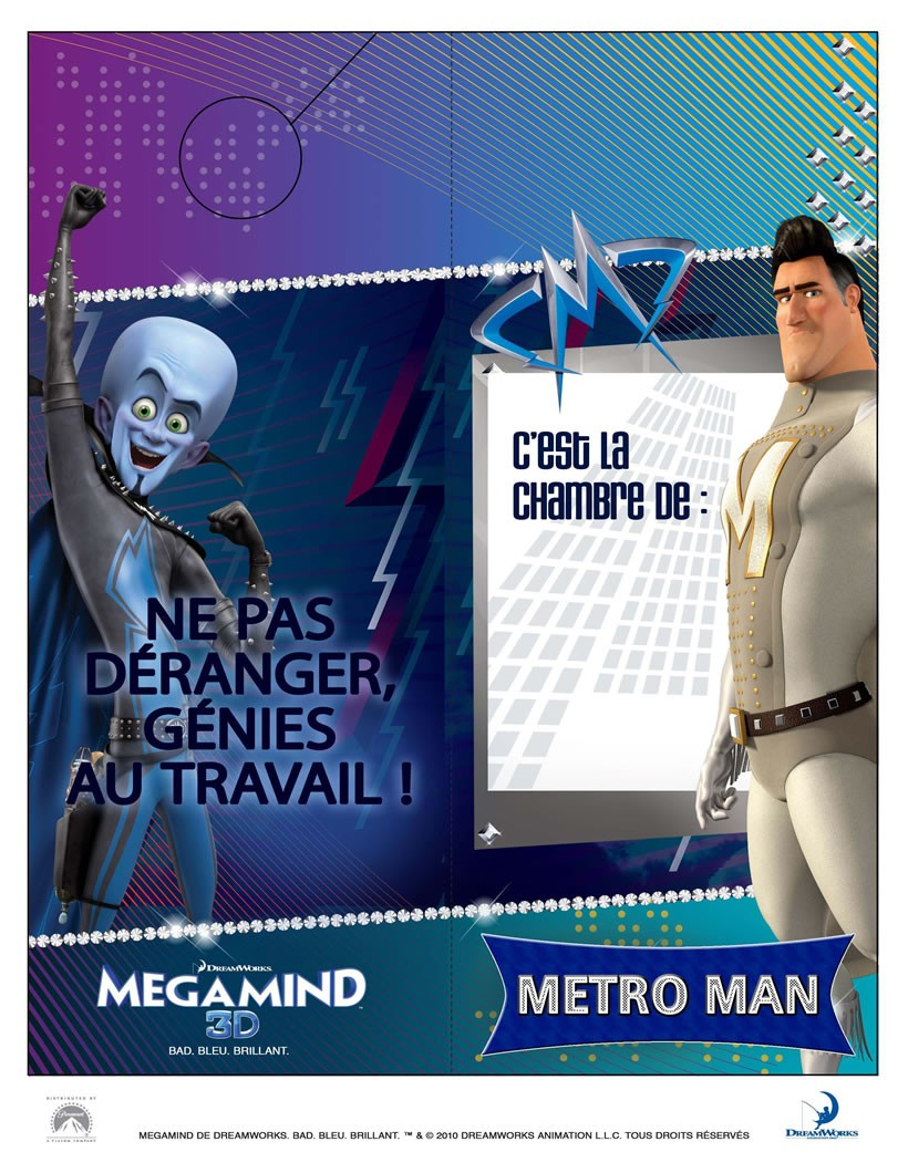 Panneau de Porte Garçon MegaMind