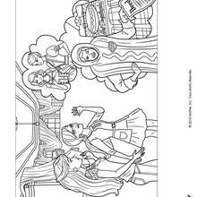 Alice et Barbie  imprimer - Coloriage - Coloriage BARBIE - Coloriage BARBIE ET LA MAGIE DE LA MODE