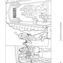 Coloriage de Barbie, Grce et Teresa - Coloriage - Coloriage BARBIE - Coloriage BARBIE ET LA MAGIE DE LA MODE