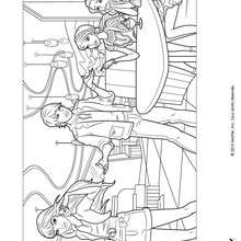 barbie, Ken et ses amies  colorier - Coloriage - Coloriage BARBIE - Coloriage BARBIE ET LA MAGIE DE LA MODE