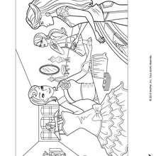 Barbie et sa nouvelle robe - Coloriage - Coloriage BARBIE - Coloriage BARBIE ET LA MAGIE DE LA MODE