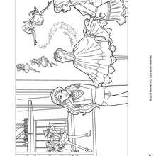 Coloriage de Barbie et de Alice