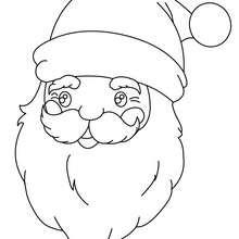 Tête de papa Noël à colorier - Coloriage - Coloriage FETES - Coloriage NOEL - Coloriage PERE NOEL - Coloriages PERE NOEL