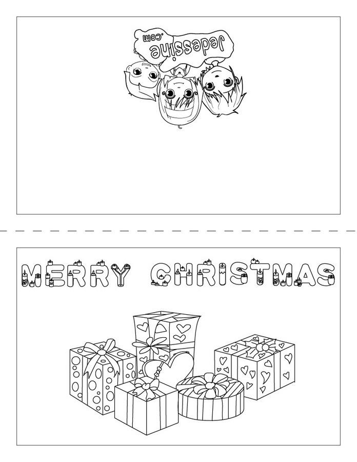Coloriages joyeux noël anglais carte à imprimer   fr.hellokids.com