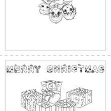 Joyeux Noël anglais carte à imprimer - Coloriage - Coloriage FETES - Coloriage NOEL - Coloriage CARTES DE VOEUX NOEL - Coloriage CARTE DE VOEUX NOEL GRATUIT