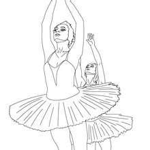 Danseuses gala à imprimer - Coloriage - Coloriage SPORT - Coloriage DANSE - Coloriage GALA DE DANSE
