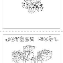 Joyeux Noël carte cadeau à imprimer - Coloriage - Coloriage FETES - Coloriage NOEL - Coloriage CARTES DE VOEUX NOEL - Coloriage CARTE DE VOEUX NOEL GRATUIT