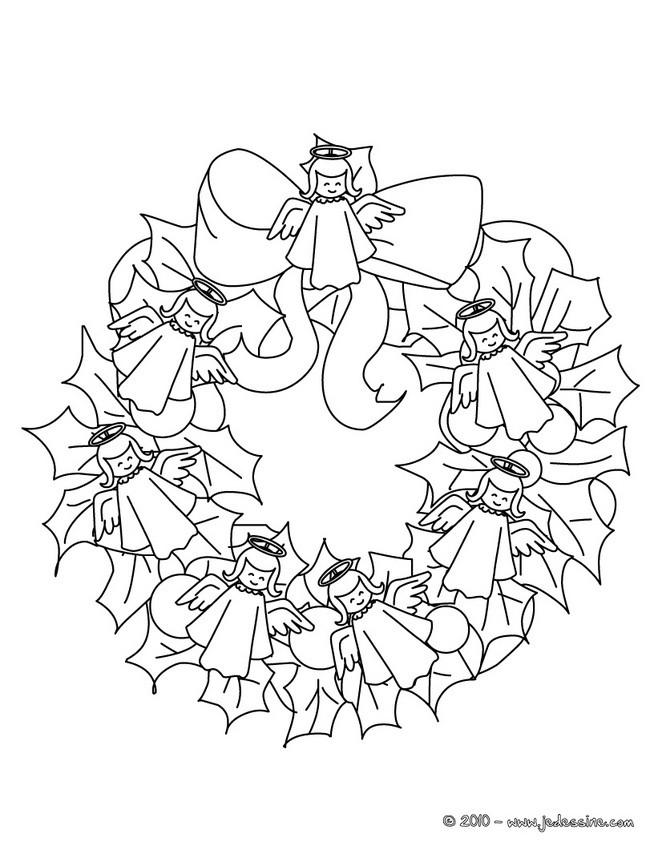 Coloriage Couronne De Noel.Coloriage De Couronnes De Noël 11 Coloriages De Noël