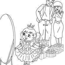 Coloriage cadeau déguisement fille - Coloriage - Coloriage FETES - Coloriage NOEL - Coloriage CADEAUX DE NOEL - Coloriages CADEAUX DE NOEL
