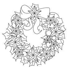 Coloriage Couronne étoiles de Noël - Coloriage - Coloriage FETES - Coloriage NOEL - Coloriage COURONNE DE NOËL