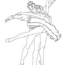 Coloriage couple danseurs - Coloriage - Coloriage SPORT - Coloriage DANSE - Coloriage GALA DE DANSE