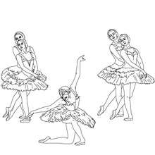 Coloriage final danse
