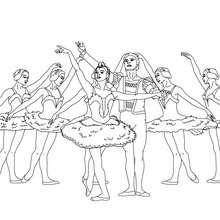 Scène gala de danse à colorier - Coloriage - Coloriage SPORT - Coloriage DANSE - Coloriage GALA DE DANSE