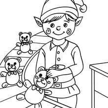 Coloriage Petit lutin de Noël
