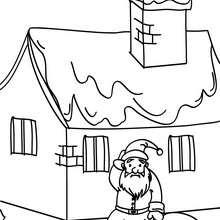Coloriage Père Noël tombé du toit - Coloriage - Coloriage FETES - Coloriage NOEL - Coloriage PERE NOEL - Coloriages PERE NOEL