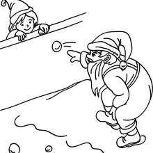 Coloriage Père Noël boule de neige - Coloriage - Coloriage FETES - Coloriage NOEL - Coloriage PERE NOEL - Coloriages PERE NOEL
