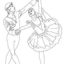 Couple danseurs de gala à imprimer - Coloriage - Coloriage SPORT - Coloriage DANSE - Coloriage GALA DE DANSE