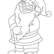 Coloriage Père Noël rigolade - Coloriage - Coloriage FETES - Coloriage NOEL - Coloriage PERE NOEL - Coloriages PERE NOEL