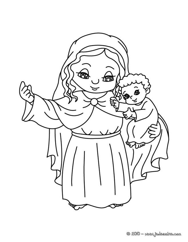 Coloriage Sainte Famille.Coloriages Grange Et La Sainte Famille A Colorier Fr Hellokids Com