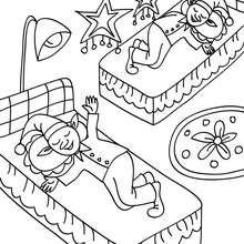Coloriage Lutin de Noël endormis - Coloriage - Coloriage FETES - Coloriage NOEL - Coloriage LUTIN DE NOEL - Coloriages LUTIN DE NOEL