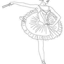 Coloriage danseuse de gala sur pointes - Coloriage - Coloriage SPORT - Coloriage DANSE - Coloriage GALA DE DANSE