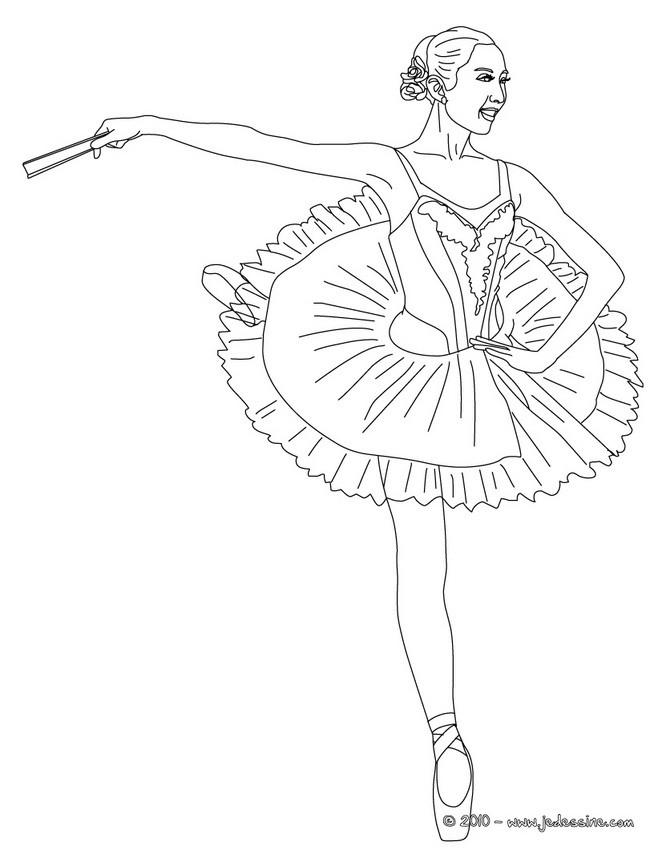 Coloriages coloriage danseuse de gala sur pointes fr - Danseuse coloriage ...