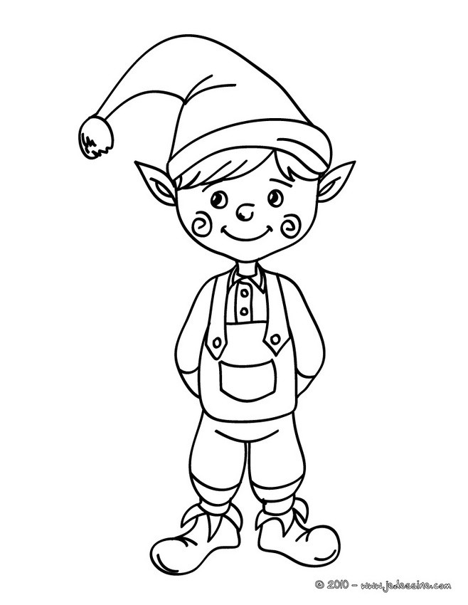 Coloriages coloriage lutin de no l au grelot - Coloriage manon ...