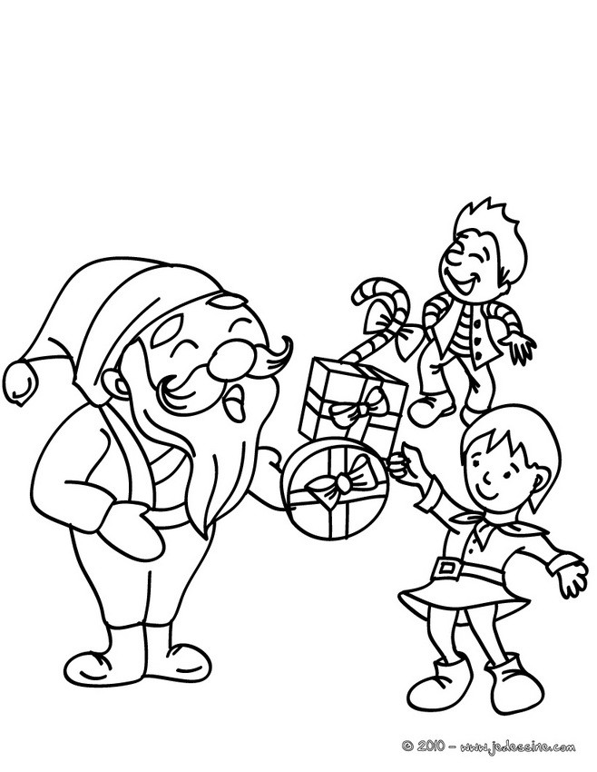 Coloriages papa no l distribution imprimer - Coloriage papa noel ...