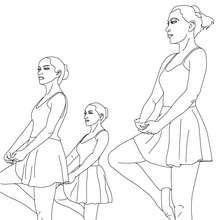 Coloriage : Danseuses en répétition