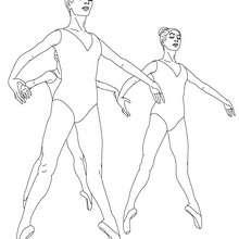 Coloriage danseuses pointes - Coloriage - Coloriage SPORT - Coloriage DANSE - Coloriage REPETITION DE DANSE
