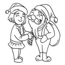 Père Noël et mère Noël à imprimer - Coloriage - Coloriage FETES - Coloriage NOEL - Coloriage PERE NOEL - Coloriages PERE NOEL