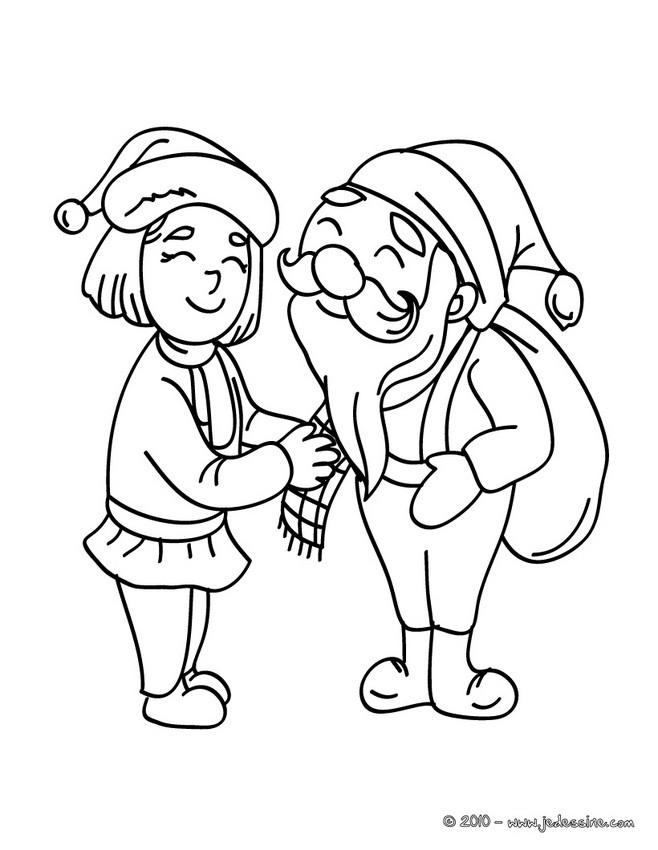 Coloriage : Père Noël et mère Noël à imprimer