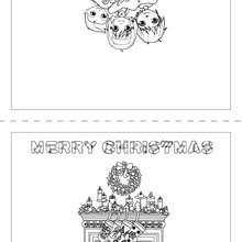 Coloriage Joyeux Noël Anglais - Coloriage - Coloriage FETES - Coloriage NOEL - Coloriage CARTES DE VOEUX NOEL - Coloriage CARTE DE VOEUX NOEL GRATUIT