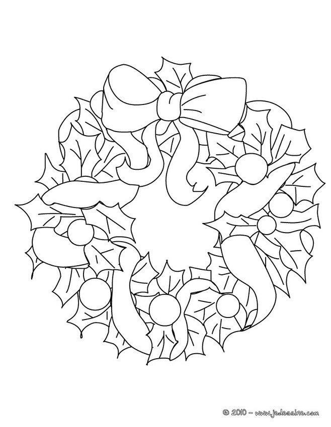 Coloriages coloriage couronne fruits de no l fr - Couronne de noel a colorier ...