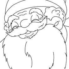 Portrait Père Noël à imprimer - Coloriage - Coloriage FETES - Coloriage NOEL - Coloriage PERE NOEL - Coloriages PERE NOEL
