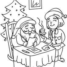 Père Noël et maman Noël à imprimer - Coloriage - Coloriage FETES - Coloriage NOEL - Coloriage PERE NOEL - Coloriages PERE NOEL